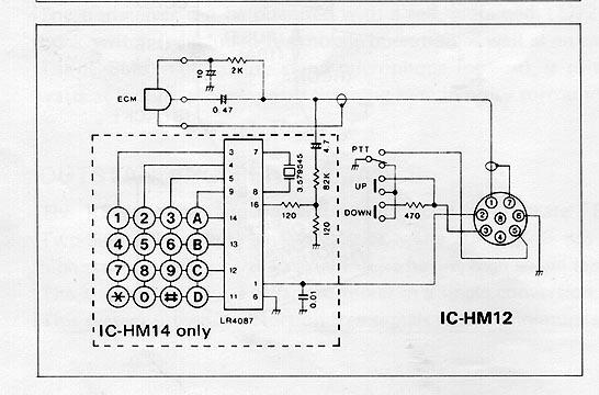 sm12-HM-14-ICOM Yaesu Mic Wiring Diagrams on yaesu vx-3 manual, rk56 mic switch wiring diagrams, yaesu vfo schematic, yaesu microphone connections, yaesu ft 847 packet, icom mic wiring diagrams, motorola mic wiring diagrams, yaesu replacement parts,