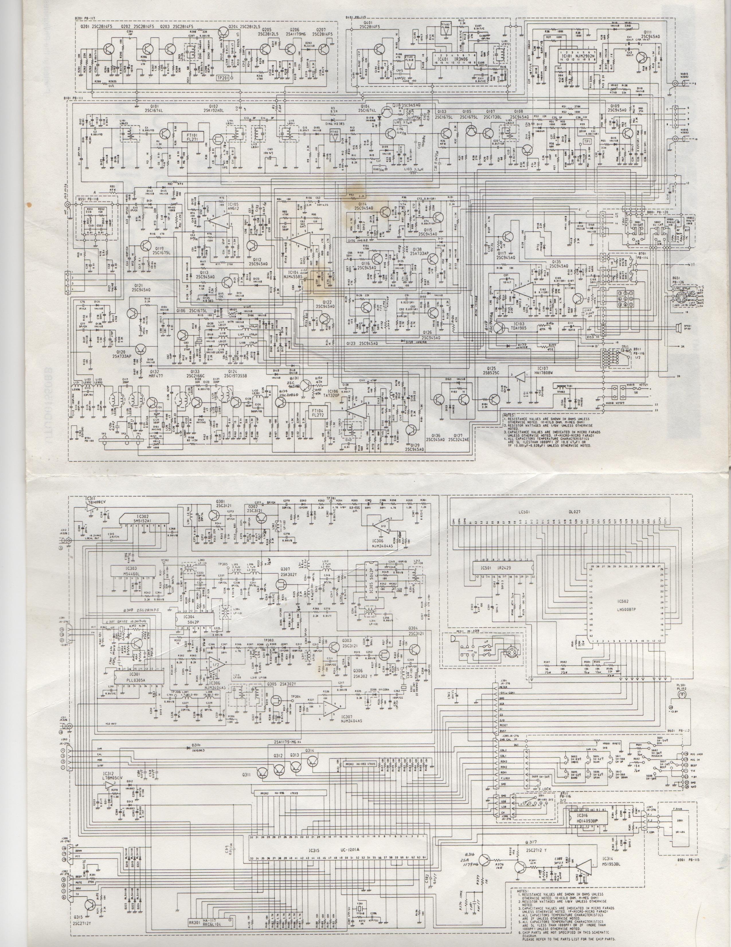 Uniden 2510 Schematic