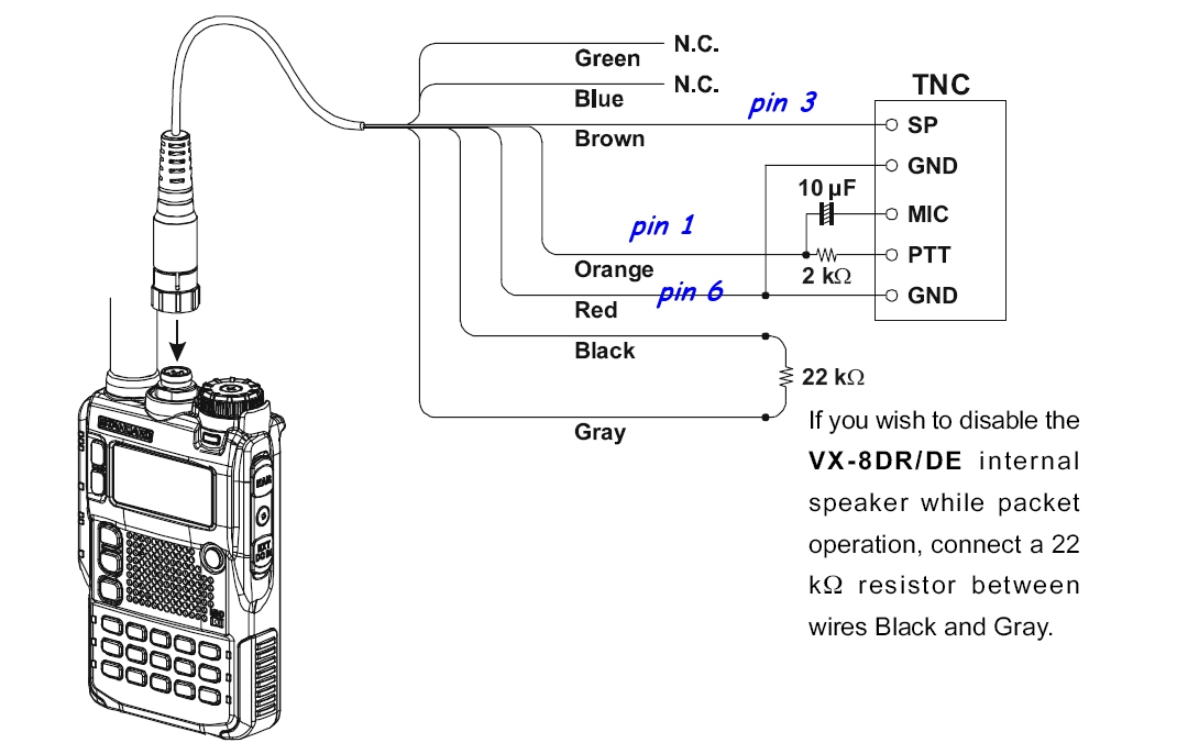 Vx Dr Pinouts on Yaesu Microphone Wiring Diagram